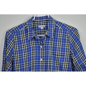 STEVEN ALAN Small Long Sleeve Button Up Plaid